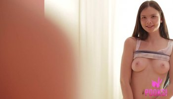 Stp1 beautiful schoolgirl takes a hard hit