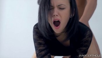 gangbang going wild with luscious busty babes